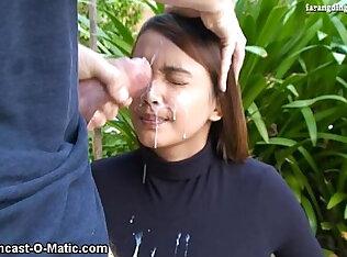 Nina Suckretary Facial cumshot on face sperm